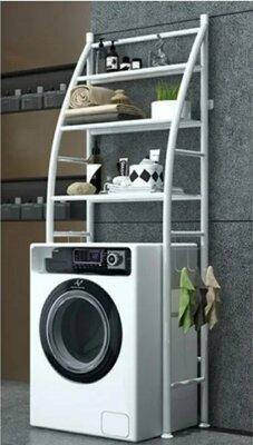 Напольная полка стойка-стеллаж на стиральную машину или над унитазом