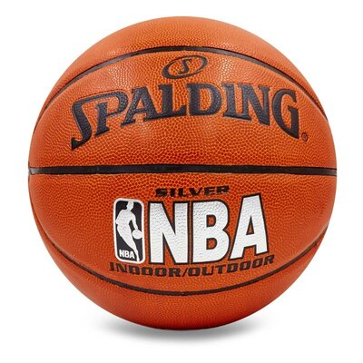 Мяч баскетбольный Spalding Nba Silver 5472 размер 7 PU, бутил