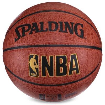 Мяч баскетбольный резиновый Spalding NBA 4258 размер 7 PU бутил