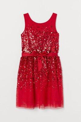 Платье H&M. из тюля с пайетками