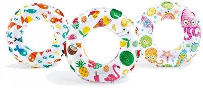 Продано: Детский надувной круг Intex 59241 NP Пестрый, 3 вида, диаметр 61 см