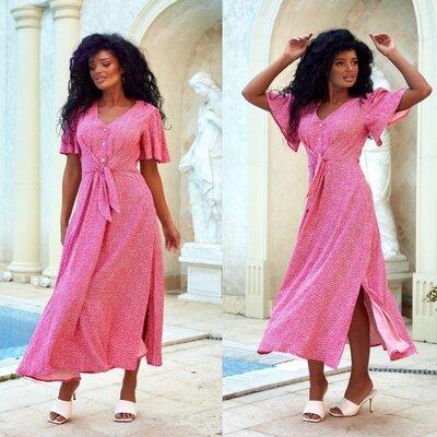 женское летне длинное платье хлопок макси в пол пышное на пуговках женские длинные летние платья