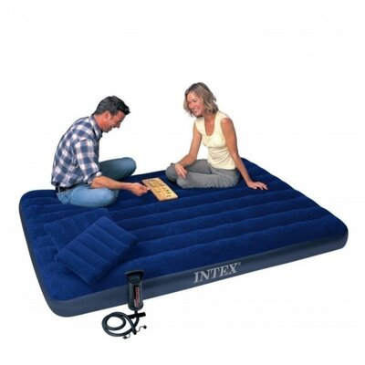 Продано: Надувной двухместный матрас Intex 64765, 2 подушки, ручной насос, 152х203х25 см