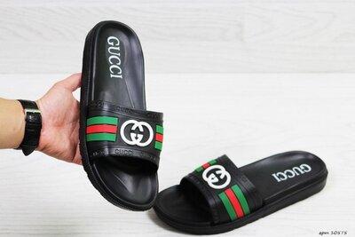 Gucci шлёпанцы мужские черные 10575