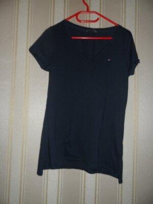 мужская темно синяя футболка размер 42// XL //бренд Tommy Hilfiger Хлопок 100%