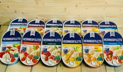 Филе сельди Almare Heringsfilets в ассортименте, 200 грамм, Германия