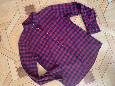 Мужская рубашка lc waikiki, xl, normal fit длинный рукав клетка, в клетку