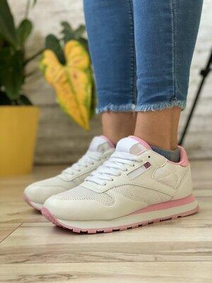 Кроссовки женские RClassic белые/розовые