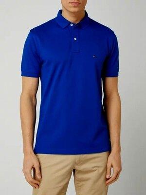 Поло футболка Tommy Hilfiger Royal Blue Polo