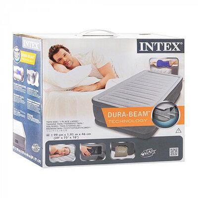 Надувная кровать Intex 64412, 99 х 191 х 46 см, встроеный электронасос. Односпальная Подробнее http