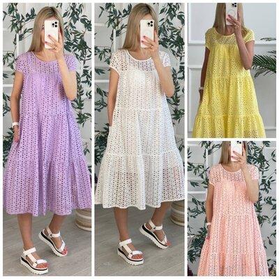 Идеальное летнее платье миди свободного кроя прошва