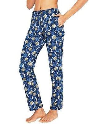 Женские хлопковые брюки для дома свободного кроя синего цвета cornette 993/26