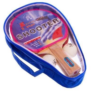 Набор для настольного тенниса GD Shooter 2 Star MT-5682 2 ракетки 2 мяча чехол
