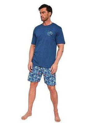Мужской домашний хлопковый комплект синего цвета cornette 326/104 blue dock 2