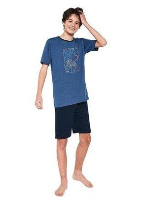 Домашний хлопковый комплект на подростка синего цвета cornette 519/36 game on