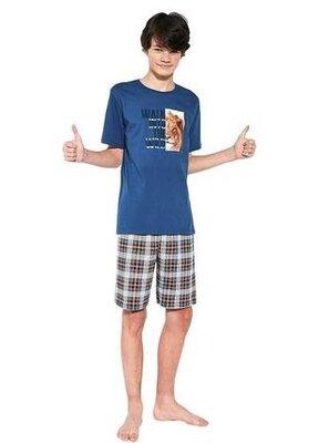 Домашний хлопковый комплект на подростка синего цвета cornette 551/35 wild