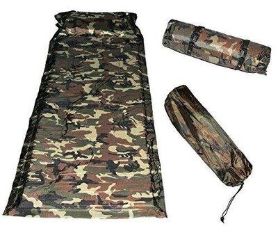 Самонадувной коврик, каремат, с подголовником, надувной подушкой, 180х60см, туристический, рыбацкий