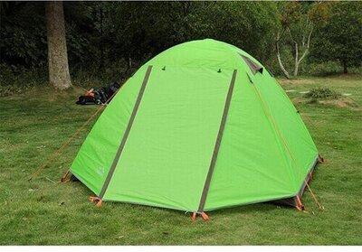 Двухслойная шести 6 местная палатка с тамбуром туристическая походная надежная устойчивая
