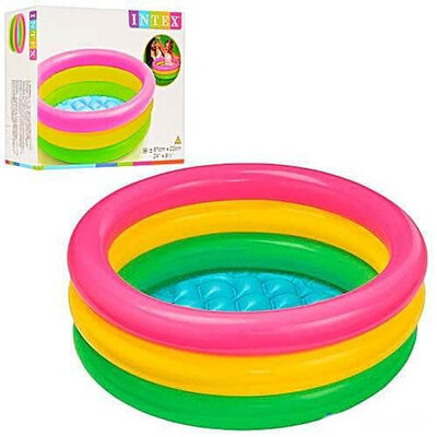 Детский бассейн Intex 57107NP,61х22см,надувной бассейн,басейн,бассейн радуга,басейн веселка