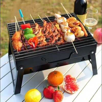 Складной барбекю гриль BBQ Grill портативный мангал, BBQ Grill Portable жаропрочный из нержавеющей
