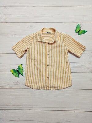 Детская рубашка с коротким рукавом 2-3 года для мальчика в идеальном состоянии