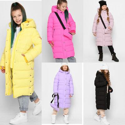 Новинка 2022 Удлиненное зимнее пальто для девочек X-Woyz DT-8328 110-164 р.