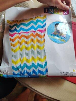 Надувной, пляжный матрац Intex, матрас для пляжа
