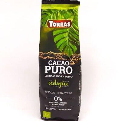 Горячий шоколад TORRAS Cacao Puro Ecologico без глютена без сахара Испания 150 г