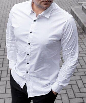 Белая мужская рубашка классика