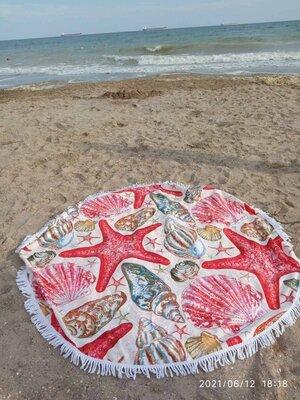 Круглое пляжное покрывало