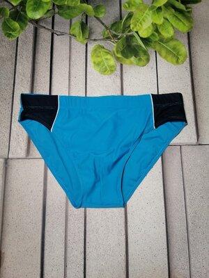 Мужские купальные плавки синие трусы для купания