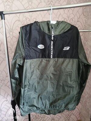Спортивная кофта мастерка анорак лёгкая куртка ветровка skechers размер s/m