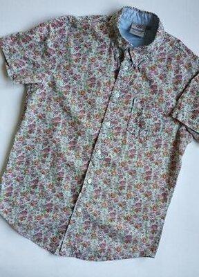 Рубашка HRD Vintage p.L в цветочный принт с коротким рукавом