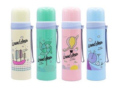 Бутылка для воды термос Around Dream 2365 4 цвета, объем 500мл