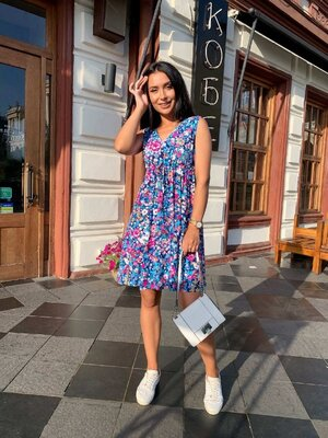 Платье летнее Размеры 42-44, 46-48, 50-52 цвета как на фото