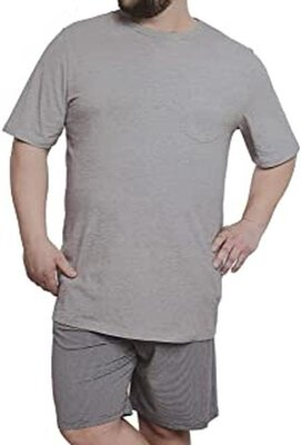 Мужская пижама с шортами батал , домашний костюм большой размер германия