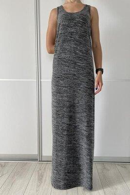 Платье майка alcott в пол длинное для высоких серое, сукня довга, длинное платье.