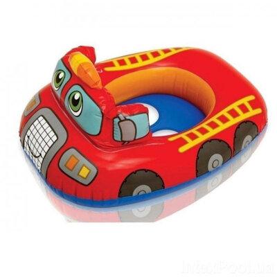 Детский надувной плотик пожарная машина intex 59586 NP,круг intex 59586np,плотик интекс 59586np