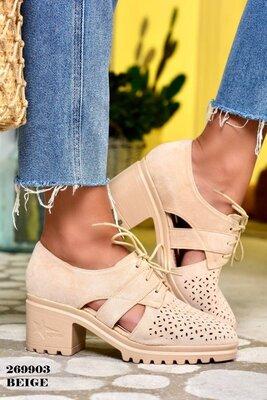 Шикарные туфельки 2 цвета крем-брюле, и светло коричн.на удобном каблучке для ценительницы комфорта