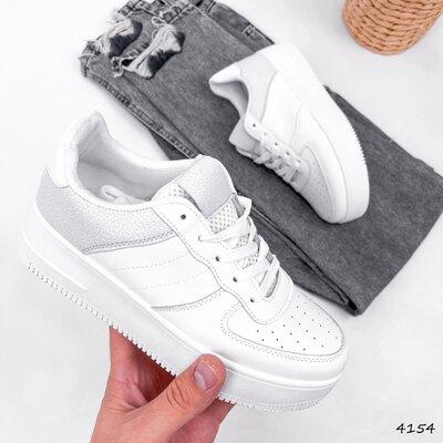Продано: Кроссовки женские Freedom белый серый Код 4154 Материал эко - кожа Цвета белые серый