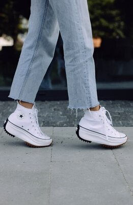 Женские кеды на платформе Converse Run Star Hike White