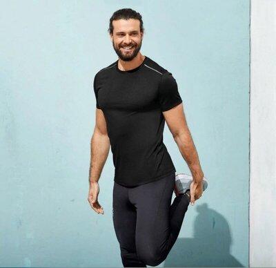 мужская спортивная футболка черная crivit германия р. s 44/46 евро