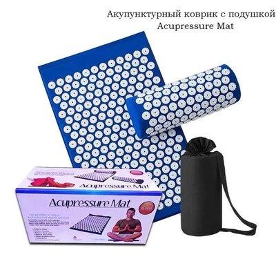 Массажный акупунктурный коврик с валиком аппликатор Кузнецова