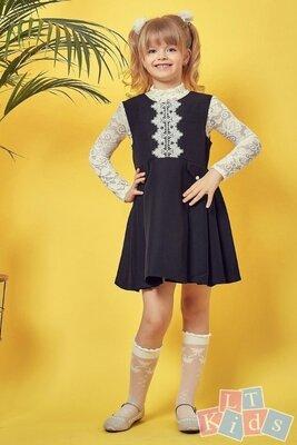 110 116 122 128 134 140 146 152 Школьный сарафан черный для девочки блуза школьная белая
