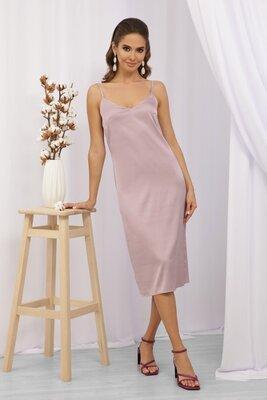 Сиреневое платье в бельевом стиле | 47220