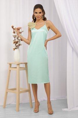 Мятное платье в бельевом стиле   47209