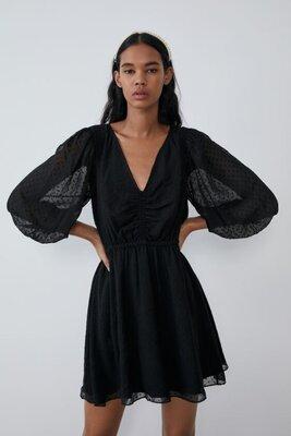 красивое воздушное платье с карманами zara