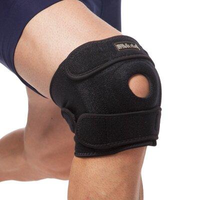 Наколенник ортез коленного сустава с эластичными ребками жесткости Mute 9035 регулируемый размер