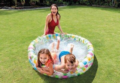 Детский надувной круглый бассейн Ананас Intex 59431