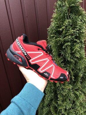 Кроссовки для бега Salomon Speedcross 3, Саломон, красные, 41-46 размер